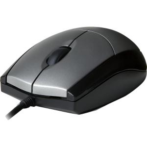 V7 Full size USB Optical Mouse - Optical - Cable - Black, Silver - USB - 1000 dpi - Scroll Wheel - 3 Button(s) FULL SIZE 1