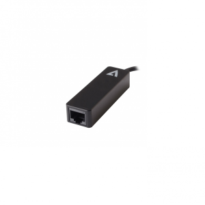 V7 Black USB Video Adapter USB-C Male to RJ45 Male - USB Type C - 1 Port(s) - 1 - Twisted Pair USB-C MALE TO RJ45 FEMALE A
