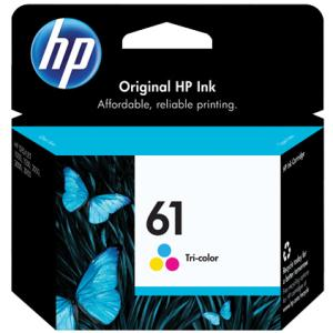 HP 61 Original Ink Cartridge - Single Pack - Inkjet - 165 Pages - Cyan, Magenta, Yellow - 1 Each