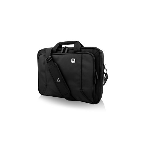 """V7 PROFESSIONAL CCP16-BLK-9N Carrying Case (Briefcase) for 16"""" Notebook - Black - Weather Resistant - 210D Polyester Inter"""