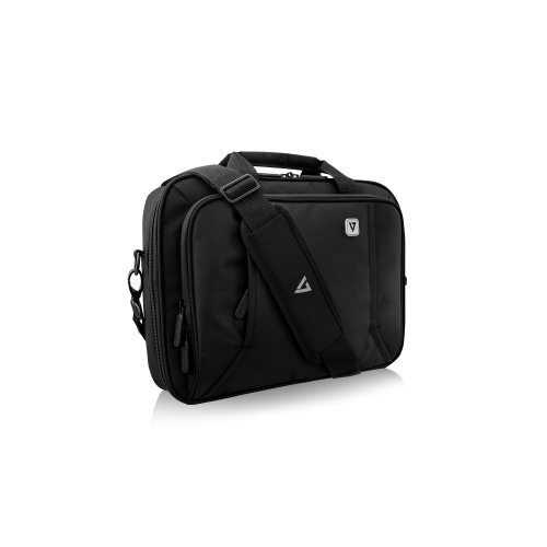 """V7 Professional CCP13-BLK-9N Carrying Case (Briefcase) for 13.3"""" ... - Black - Weather Resistant - 210D Polyester Interior"""