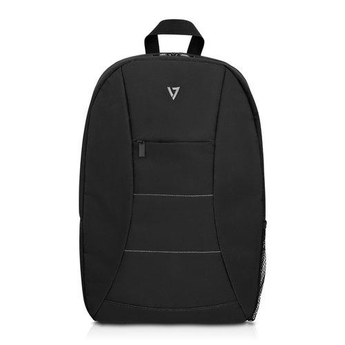 """V7 Essential CBK1-BLK-9N Carrying Case (Backpack) for 15.6"""" Notebook - Black - Polyester - Shoulder Strap - 18.3"""" Height x"""