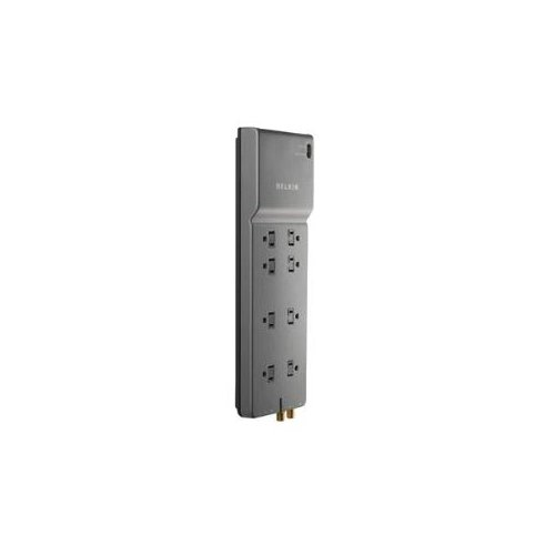 Belkin Home/Office BE108230-12 8-Outlets Surge Suppressor - 8 - 3550 J HOME/OFFICE W/TELEPHONE LINE