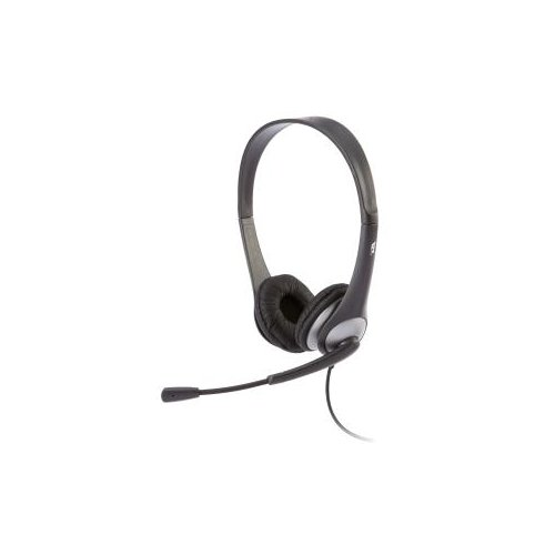 Cyber Acoustics AC-204 Headset - Stereo - Wired - 20 Hz - 20 kHz - Over-the-head - Binaural - Semi-open - 7 ft Cable - Noi