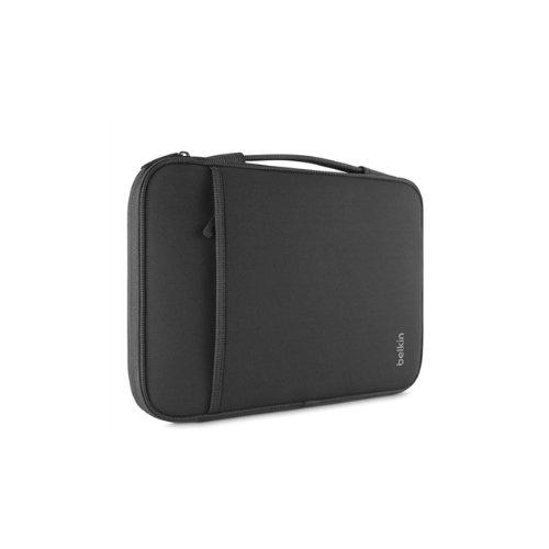 "Belkin Carrying Case (Sleeve) for 14"" Notebook - Black - Wear Resistant Interior - Neopro, Fleece Interior - Handle - 1 Pa"